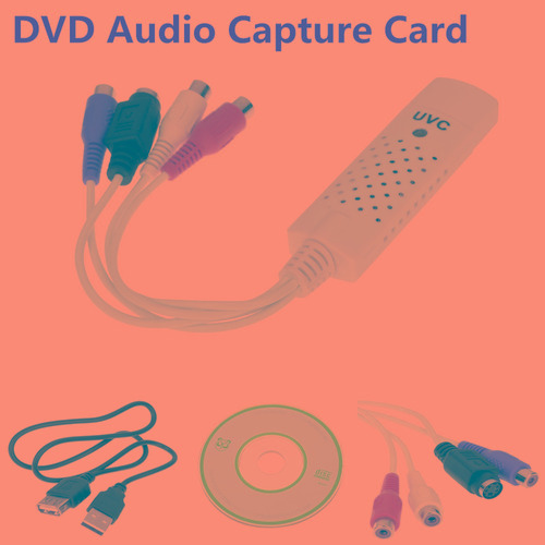 captura de audio video usb2.0/3.0 tarjeta adaptador vhs vcr