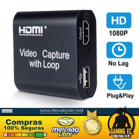 Capturadora De Video 1080 60fps Hdmi Usb Camara Ps5 Xbox Ps4