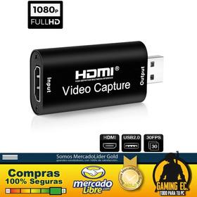 Capturadora De Video 4k 1080p Stream Hdmi Usb Cámaras Live