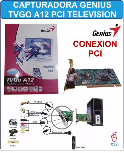 capturadora de video genius puerto tvgo a12 pci tv y radio
