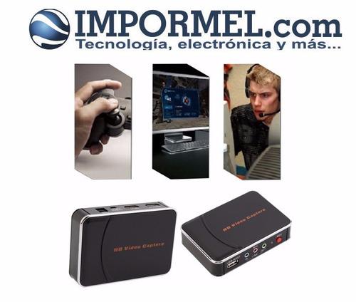 capturadora de vídeo hdmi hd 1080p componente juegos