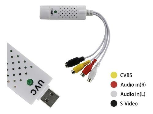 capturadora de video usb 2.0 - video compuesto y s-video