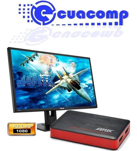 capturadora video hdmi agptek full hd 1080p para streaming