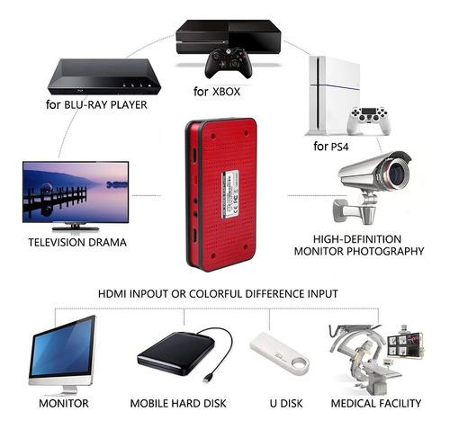 capturadora video hdmi full hd 1080p gammer usb sd ezcap 284