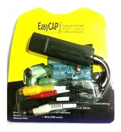 capturadora video usb easycap externa vhs dvd - factura a/b