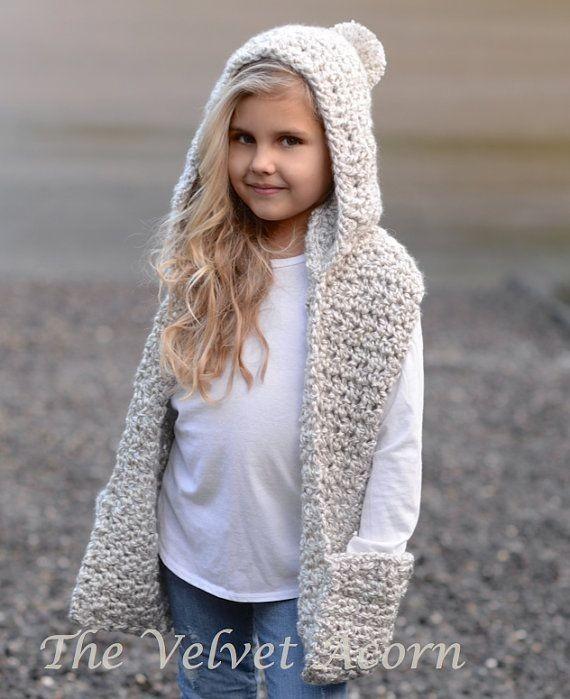 Capucha Gorro Con Bufanda Tejido Crochet Infantil 500