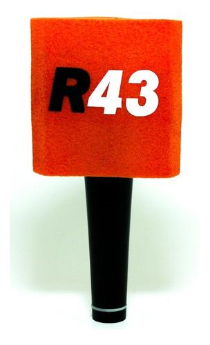 capuchón triangular gamuzado para micrófono colores + logo