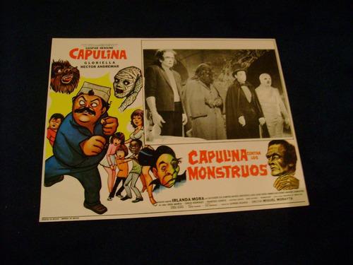 capulina contra los monstruos  lobby card cartel  poster