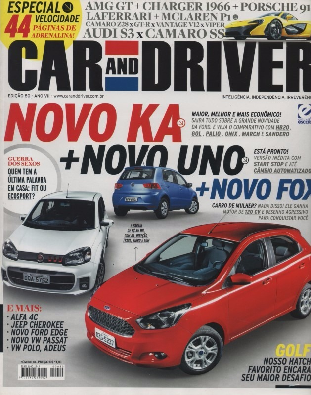 Car And Driver N Ka Hb Gol Sandero March Palio Onix Fit R  Em Mercado Livre