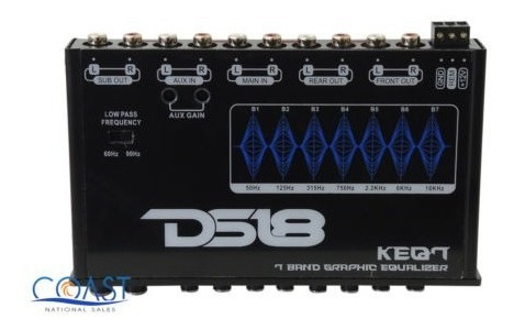 car audio 6 canales, 7 bandas, ecualizador gráfico, subwoof