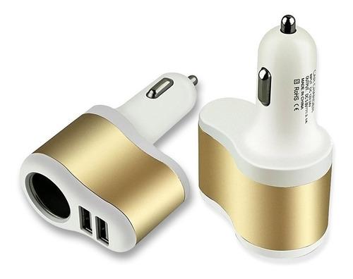 car charger cargador carro adaptador doble usb con socket