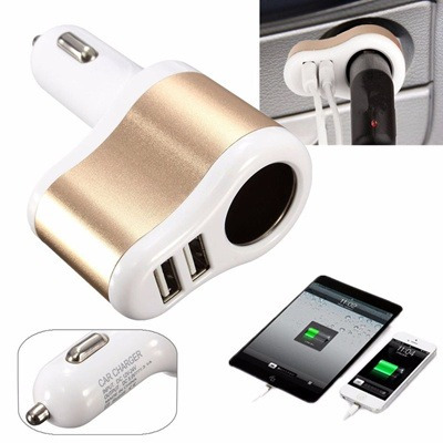 car charger cargador carro adaptador doble usb con socket