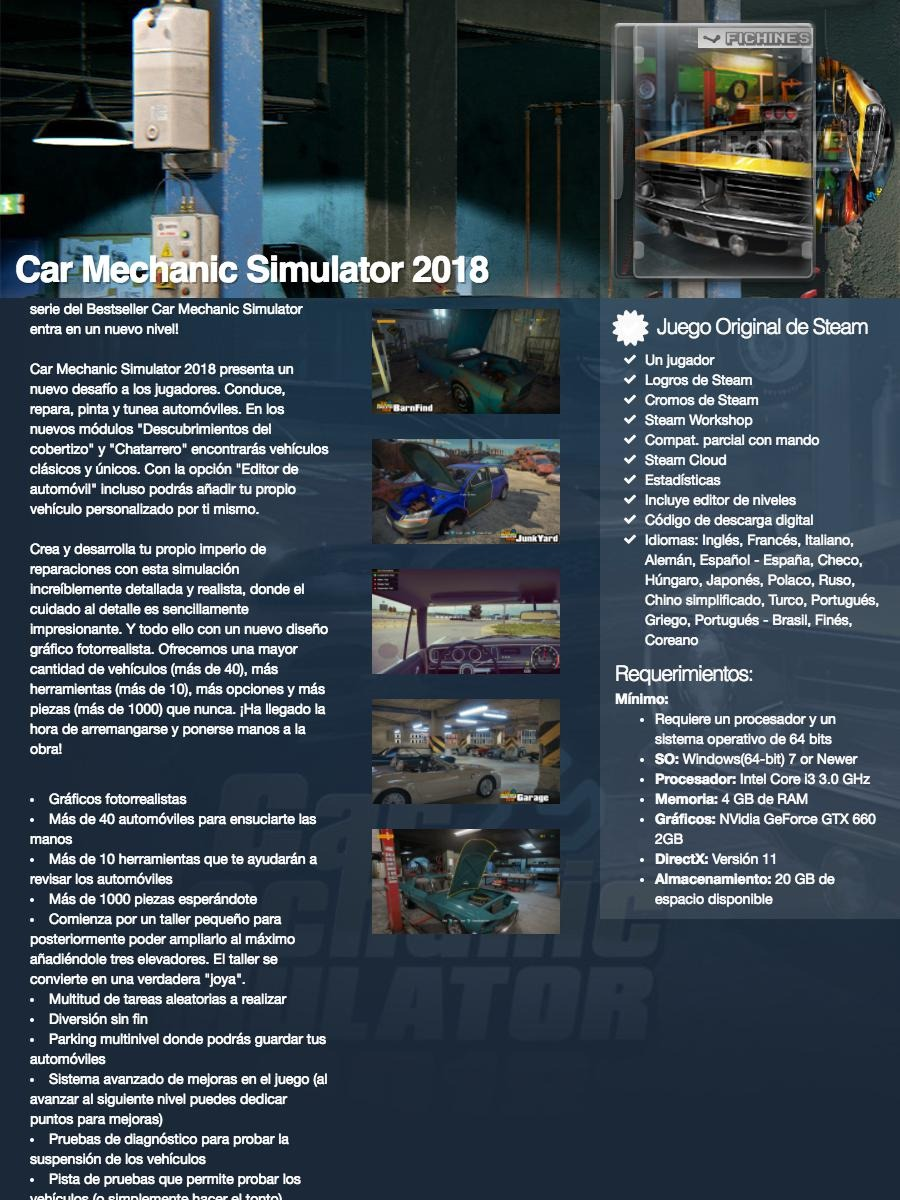 Car Mechanic Simulator 2018 Original Pc Steam 645630 449 00