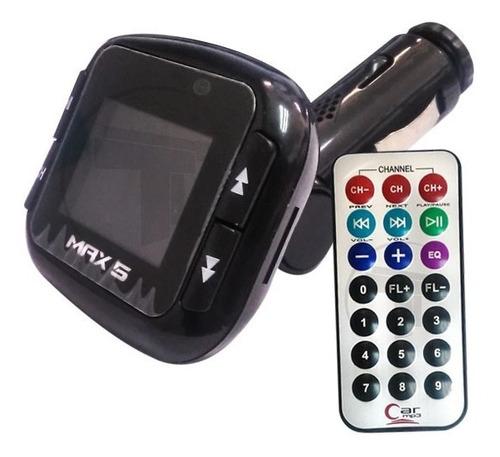 car mp3 reproductor transmisor carro max5 negro
