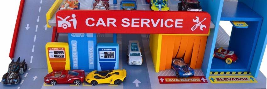 Car service com posto e garagem ideal hot wheels r 235 for Garage jm auto audincourt