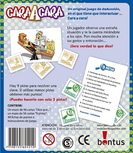 cara a cara bontus juegos pocket cartas july toys