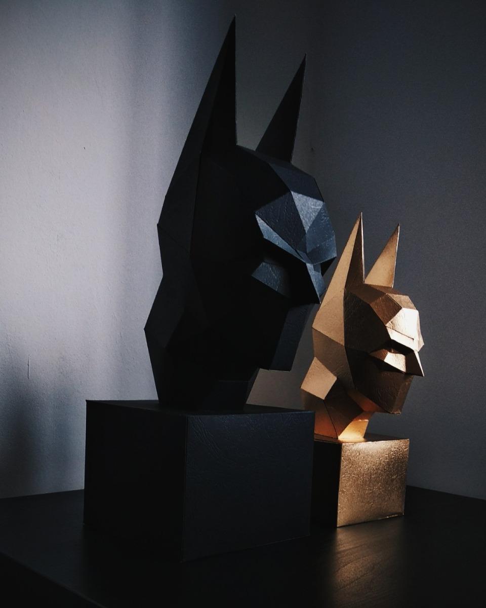 Cara Batman Arkham Papercraft Pepakura Origami 0175