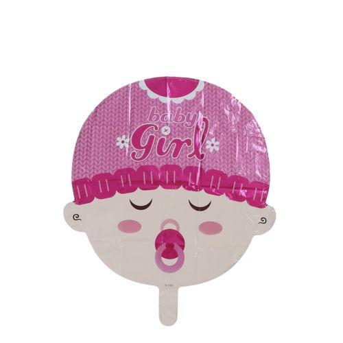 Cara De Bebé De Dibujos Animados Globo Papel Pink 29990 En