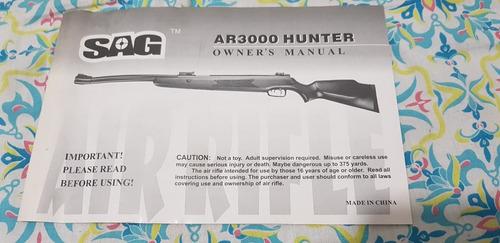 carabina de pressão sag ar3000 hunter cal 5,5 + nfe