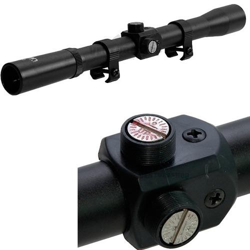 carabina pressão nova dione 5.5mm com luneta 4x20 - rossi