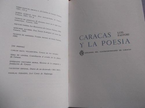 caracas y la poesia luis pastori tapa dura antologia