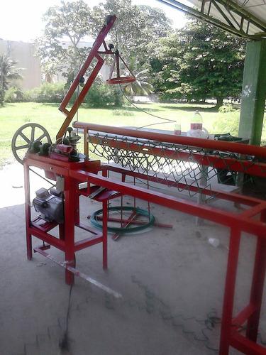 caracol y  maquinas para  malla