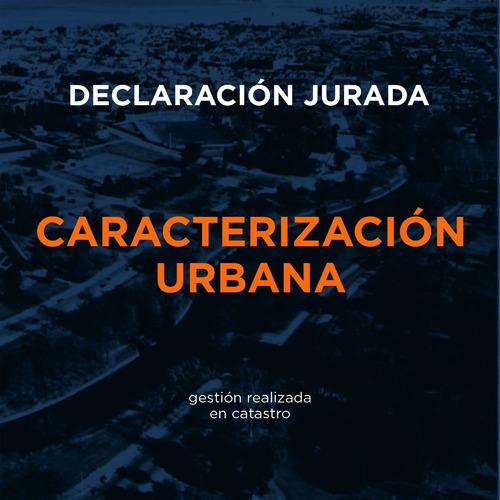 caracterizaciones urbanas - cédula catastral actualizada