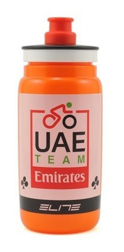 caramañola botella bicicleta elite fly uae emirates team 550ml - racer bikes
