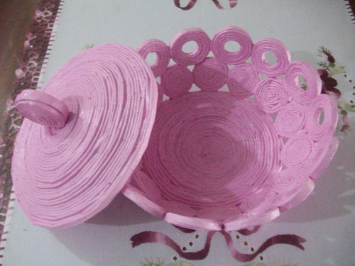 caramelera de papel reciclado