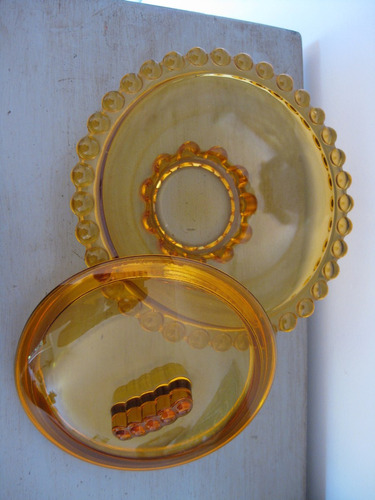 caramelera de vidrio art deco