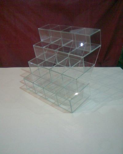 caramelera de vidrio escalera, buena visual