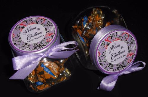 carameleras de vidrio souvenir cumpleaños 15 años boda promo