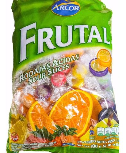 caramelos rodajas acidas frutal arcor 930grs -la golosineria