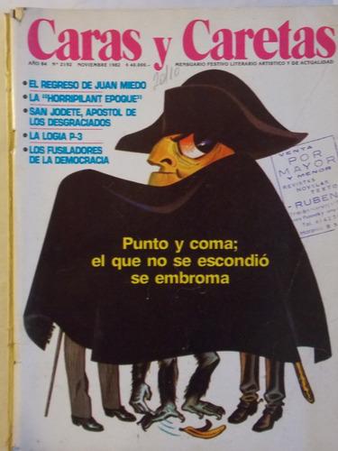 caras y caretas, 1982, humor actualidad argentina, nº 2192