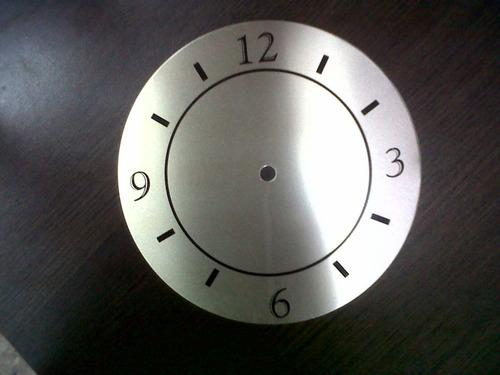 caratula de reloj aluminio impresa