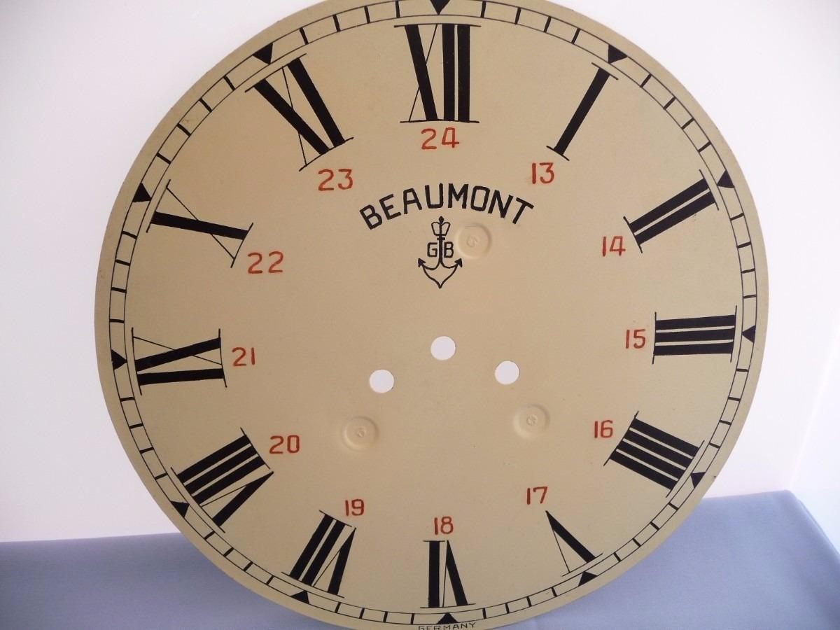 Caratula de reloj de pared beaumont gustav becker for Relojes de pared antiguos precios