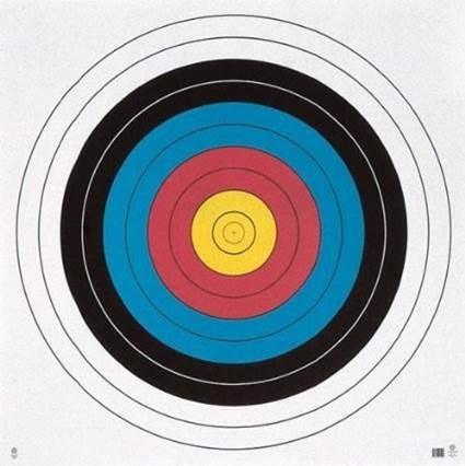 caratula para diana de tiro con arco 122 cm diametro