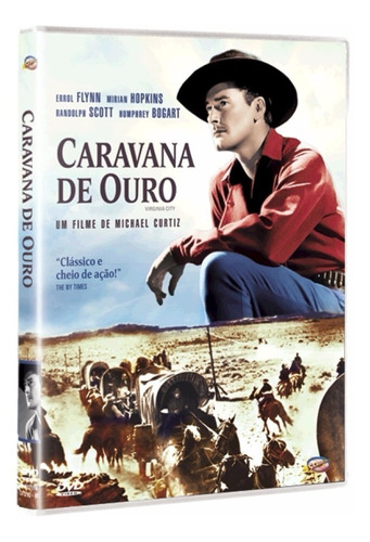 caravana de ouro - dvd - errol flynn - humphrey bogart