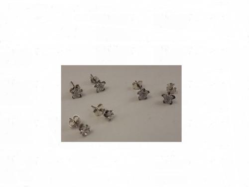 caravanas, aros, plata 925 piedras circonias