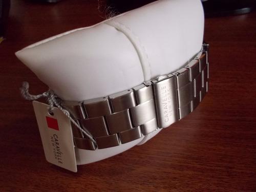 caravelle by bulova reloj de hombre de acero nuevo en caja