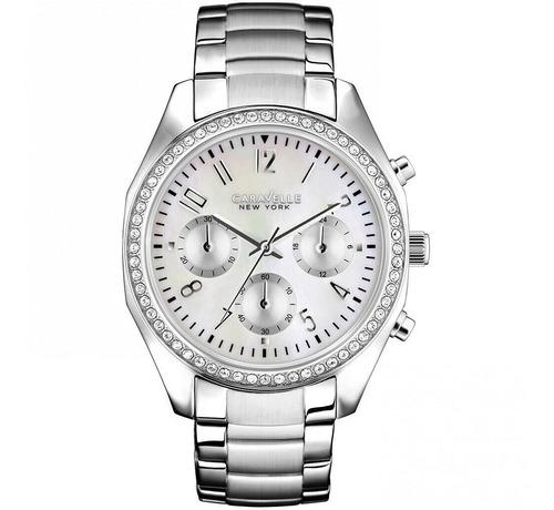 caravelle new york ladies' melissa chronograph watch 43l159
