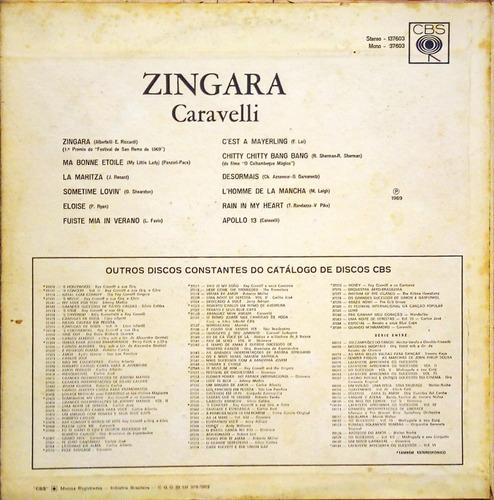 caravelli e sua orquestra lp 1969 zingara  apolo 13 11883
