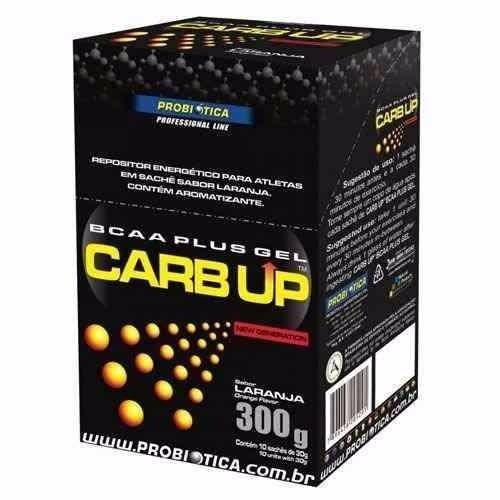 carb up bcaa plus gel - 300g - 10und - sabor: laranja