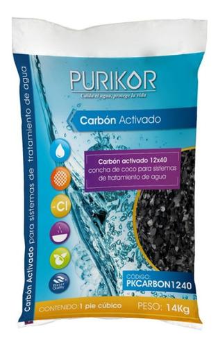 carbón activado concha de coco 14 kg purikor