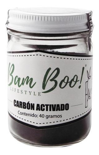 carbón activado en polvo 40 gr bam boo! lifestyle®