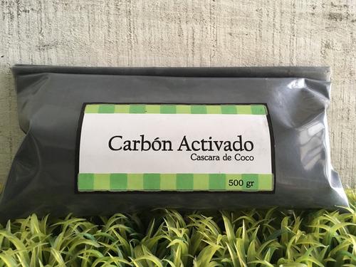 carbón activado vegetal cascara de coco 500gr