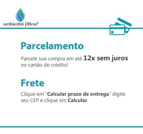 carbon block big 10 x 4 1/2 carvão ativado remove cloro - 12x s juros +  frete grátis