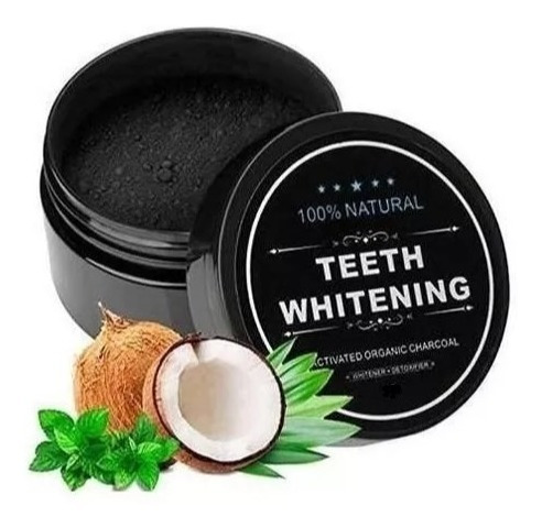 carbon de coco blanqueador dental teeth whitening dientes