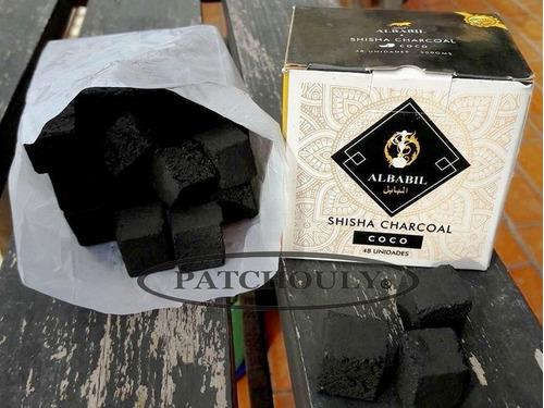 carbón natural coco para narguile pipaagua 1/2 kilo 48 unid.