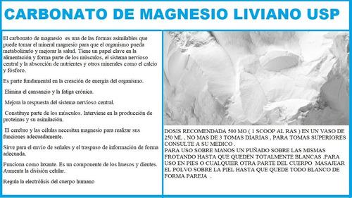carbonato de magnesio puro usp1 kilo liviano